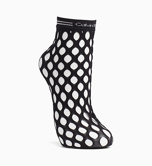 CALVINKLEIN Fishnet Ankle Socks - BLACK - CALVIN KLEIN SOCKS & TIGHTS - main image