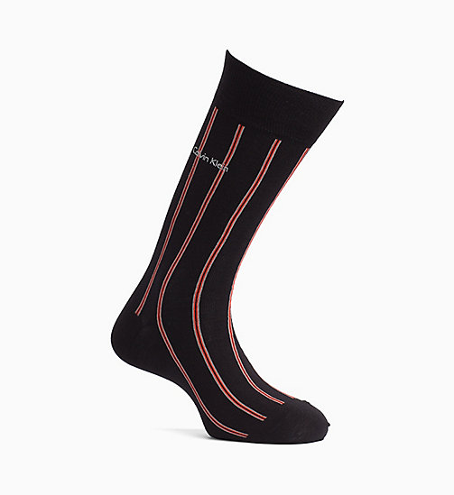 CALVINKLEIN Striped Crew Socks - BLACK - CALVIN KLEIN ALL GIFTS - main image