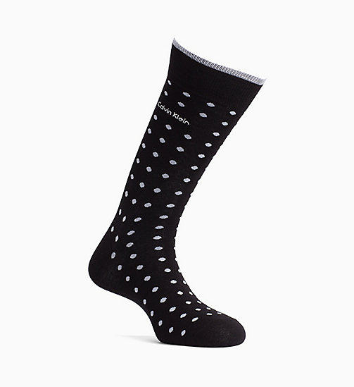 CALVINKLEIN Dotted Crew Socks - BLACK/WHITE - CALVIN KLEIN ALL GIFTS - main image