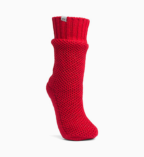 CALVINKLEIN Sparkle Home Socks - CRIMSON RED - CALVIN KLEIN PERFUMES & ACCESSORIES - main image