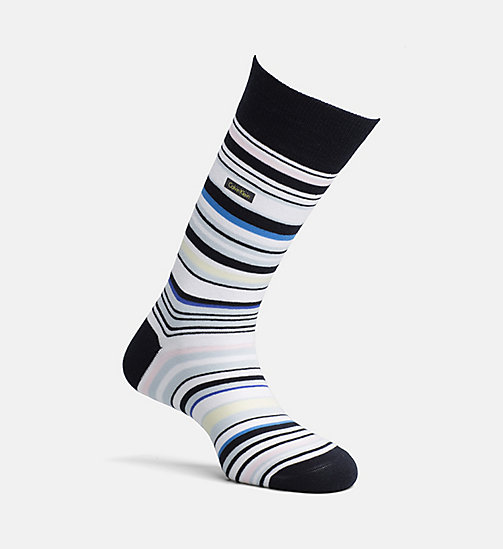 CALVINKLEIN Multi Stripe Crew Socks - NAVY/WHITE - CALVIN KLEIN SOCKS - main image