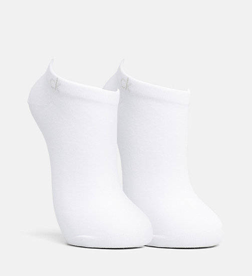 CALVIN KLEIN 2 Pack Liner Socks - WHITE - CALVIN KLEIN SOCKS & TIGHTS - detail image 1
