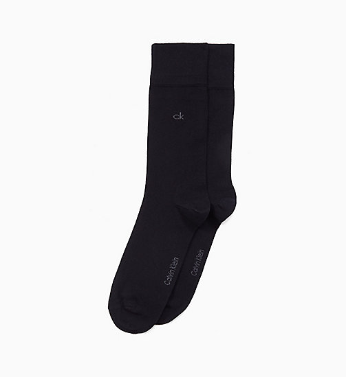 CALVINKLEIN 2 Pack Crew Socks - BLACK - CALVIN KLEIN BAGS & ACCESSORIES - main image