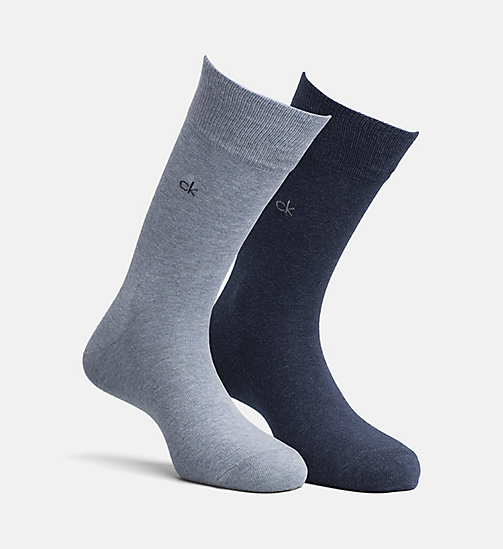 CALVINKLEIN 2 Pack Crew Socks - DENIM HTR MIX - CALVIN KLEIN SOCKS - main image
