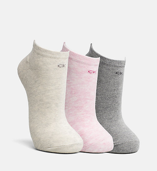 CALVIN KLEIN JEANS 3 Pack Liner Socks - ASST.G59 - CALVIN KLEIN JEANS SHOES & ACCESORIES - main image