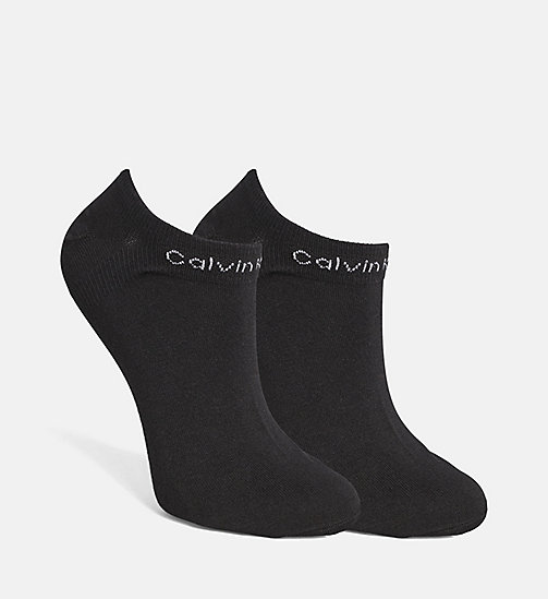 CALVIN KLEIN 2 Pack Performance Liner Socks - BLACK - CALVIN KLEIN SOCKS & TIGHTS - detail image 1
