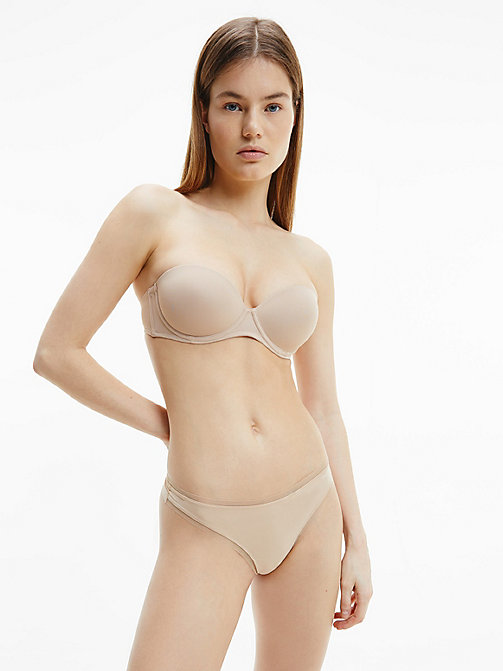 CALVIN KLEIN Strapless Bra - Perfectly Fit - SAND DUNE - CALVIN KLEIN ESSENTIAL SETS - detail image 1