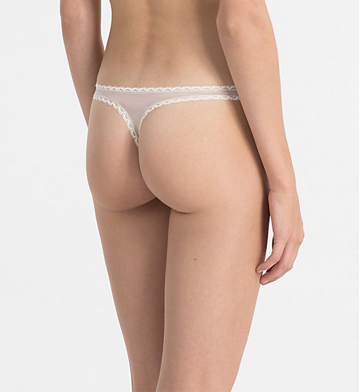 CALVINKLEIN Thong - Seductive Comfort - SHEER BLUSH - CALVIN KLEIN ESSENTIAL SETS - detail image 1