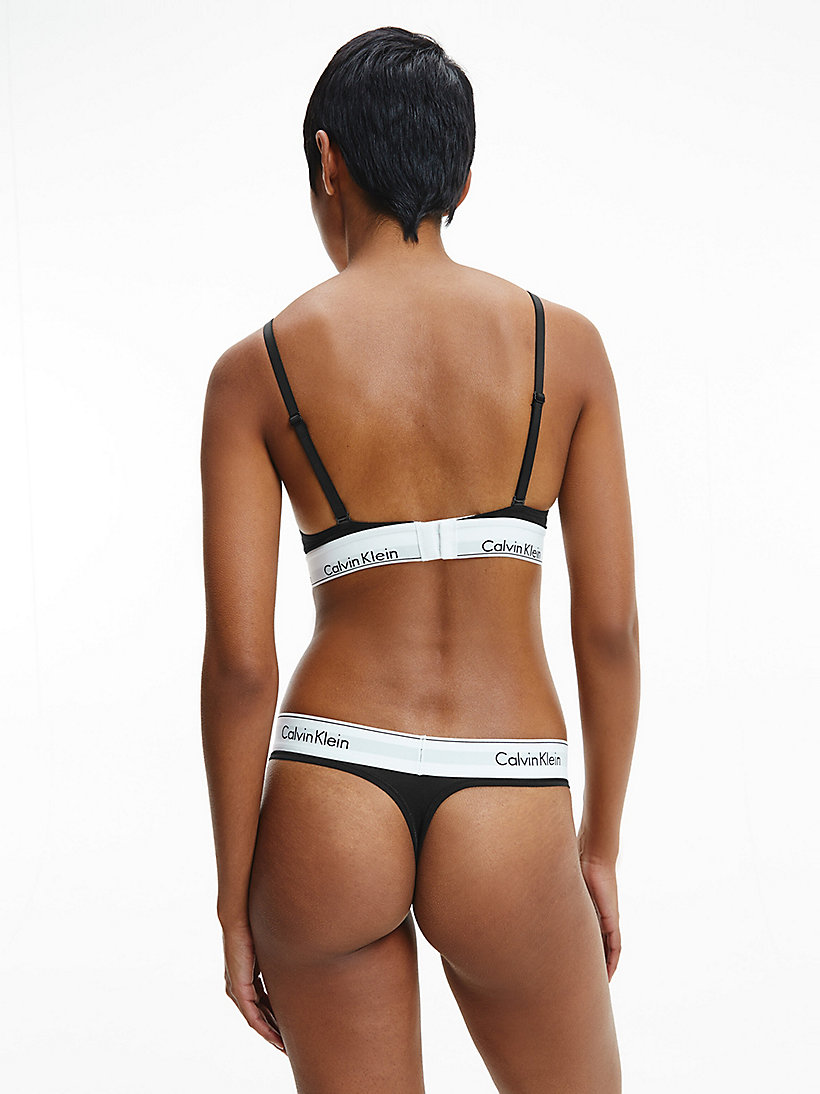CALVINKLEIN Thong - Modern Cotton - GREY HEATHER - CALVIN KLEIN UNDERWEAR - detail image 2
