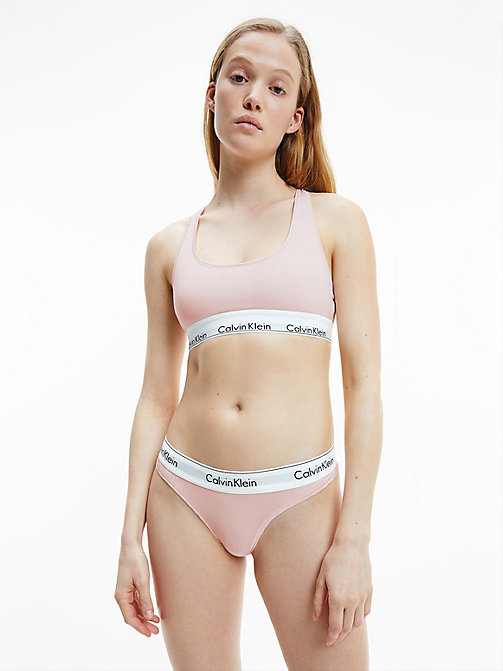 CALVIN KLEIN Thong - Modern Cotton - NYMPHS THIGH - CALVIN KLEIN NEW FOR WOMEN - detail image 1