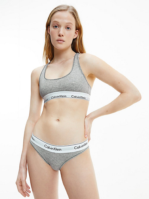 CALVINKLEIN Bikini Brief - Modern Cotton - GREY HEATHER - CALVIN KLEIN KNICKERS - detail image 1
