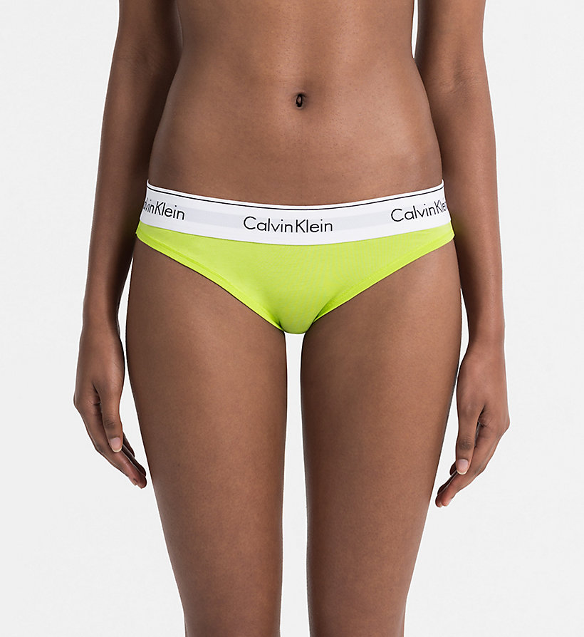 CALVINKLEIN Bikini - Modern Cotton - GREY HEATHER W/ MANIC RED WB - CALVIN KLEIN UNDERWEAR - main image