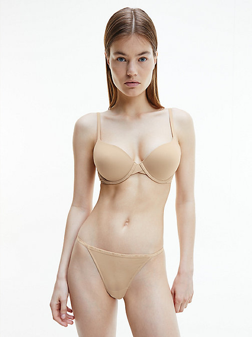 CALVINKLEIN Demi Bra - Perfectly Fit - BARE - CALVIN KLEIN BRAS - detail image 1