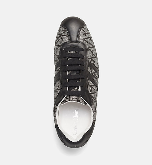 CALVINKLEIN Logo Sneakers - GREY/GRANITE/BLACK - CALVIN KLEIN TRAINERS - detail image 1