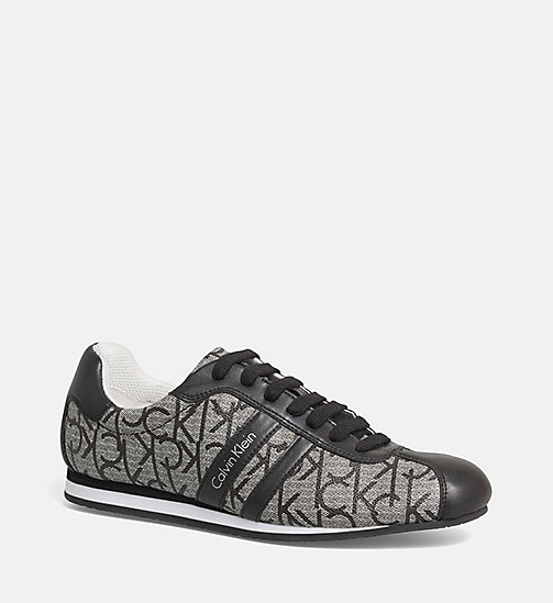 CALVINKLEIN Logo Sneakers - GREY/GRANITE/BLACK - CALVIN KLEIN TRAINERS - main image
