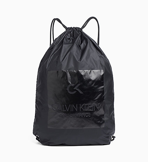 CALVINKLEIN Drawstring Backpack - BLACK - CALVIN KLEIN SPORTS SOCKS & ACCESSORIES - main image