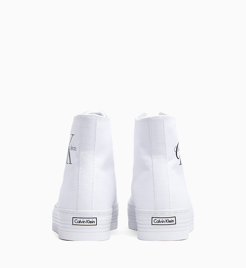 CALVIN KLEIN JEANS Canvas High-Top Sneakers - BLACK/DUSK - CALVIN KLEIN JEANS WOMEN - detail image 2