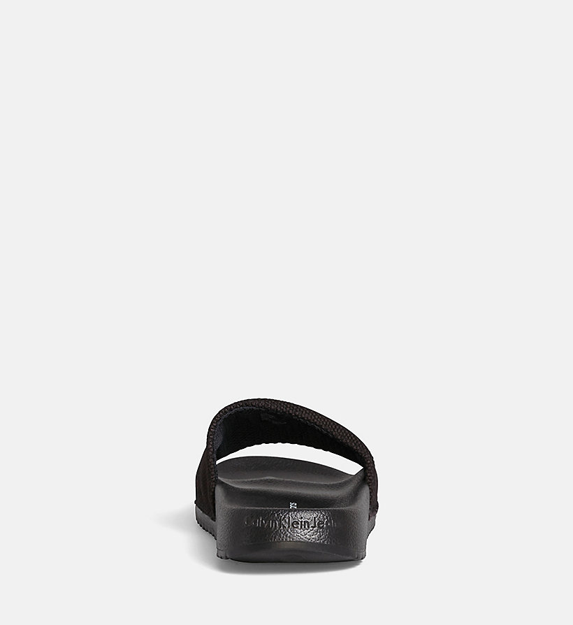 CALVIN KLEIN JEANS Canvas Sliders - BLACK/CHAMBRAY - CALVIN KLEIN JEANS WOMEN - detail image 3