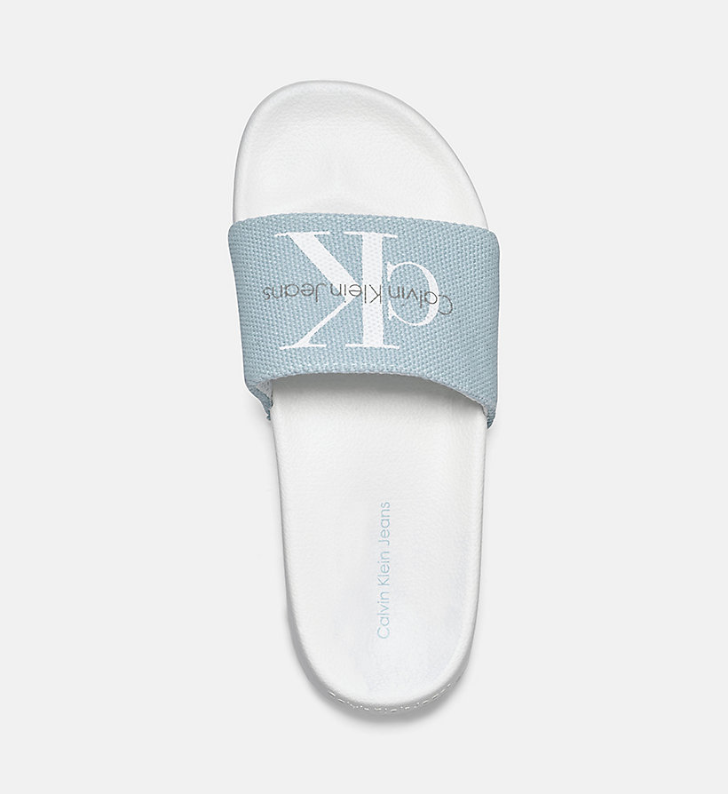 CALVIN KLEIN JEANS Canvas Sliders - WHITE - CALVIN KLEIN JEANS WOMEN - detail image 1