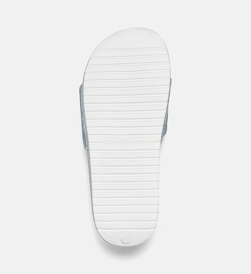CALVIN KLEIN JEANS Canvas Sliders - WHITE - CALVIN KLEIN JEANS WOMEN - detail image 4