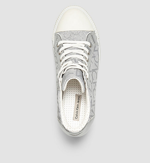 CKJEANS Metallic Jacquard Sneakers - LIGHT SILVER/LIGHT SILVER - CK JEANS TRAINERS - detail image 1