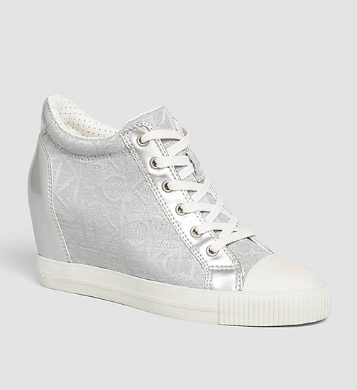 CKJEANS Metallic Jacquard Sneakers - LIGHT SILVER/LIGHT SILVER - CK JEANS TRAINERS - main image