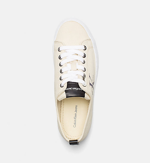 CALVIN KLEIN JEANS Canvas Sneakers - NATURAL/WHITE - CALVIN KLEIN JEANS TRAINERS - detail image 1