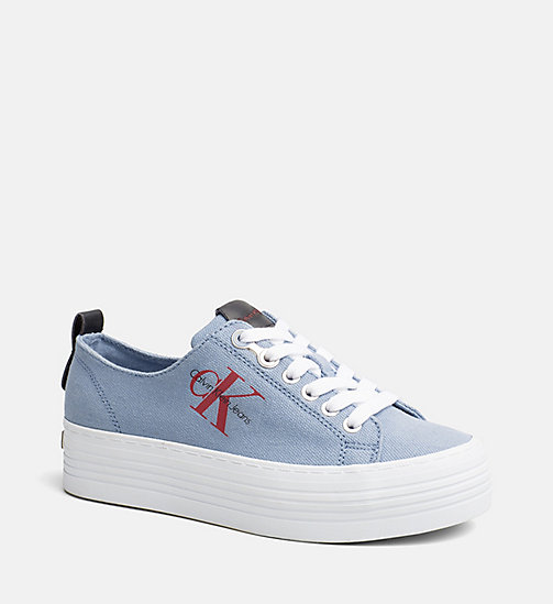 CALVIN KLEIN JEANS Baskets en denim - LIGHT BLUE - CALVIN KLEIN JEANS BASKETS - image principale