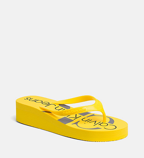CALVIN KLEIN JEANS Jelly slippers - ACCENT YELLOW -  SLIPPERS - main image