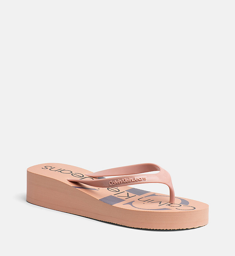 CALVIN KLEIN JEANS Slippers - WHITE - CALVIN KLEIN JEANS MUJER - imagen principal