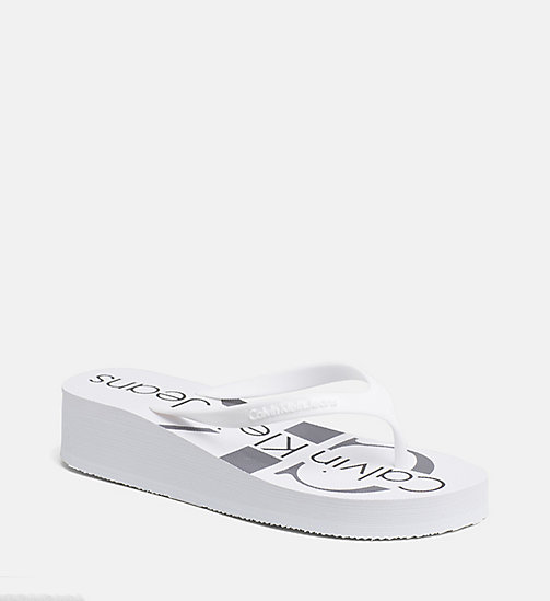 CALVIN KLEIN JEANS Jelly slippers - WHITE -  SLIPPERS - main image