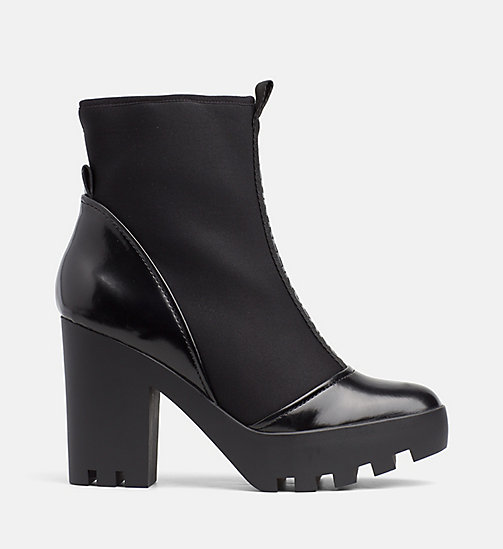 CALVIN KLEIN JEANS Neoprene Heeled Ankle Boots - BLACK - CALVIN KLEIN JEANS BOOTS - main image