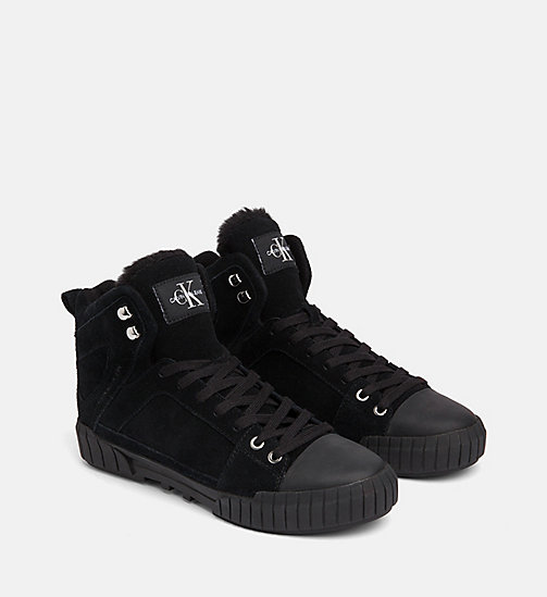 CALVIN KLEIN JEANS Suede High-Top Trainers - BLACK - CALVIN KLEIN JEANS TRAINERS - detail image 1