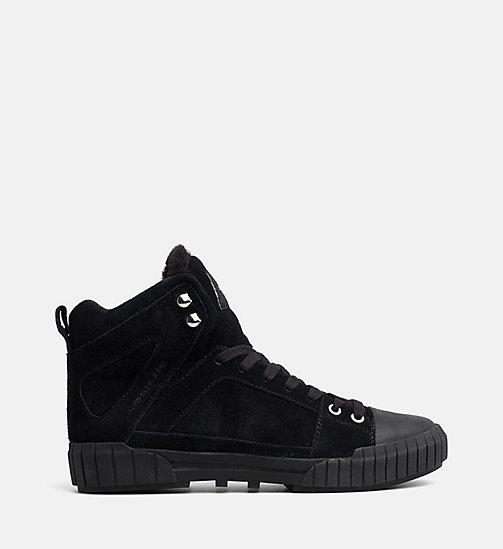 CALVIN KLEIN JEANS Suede High-Top Trainers - BLACK - CALVIN KLEIN JEANS TRAINERS - main image