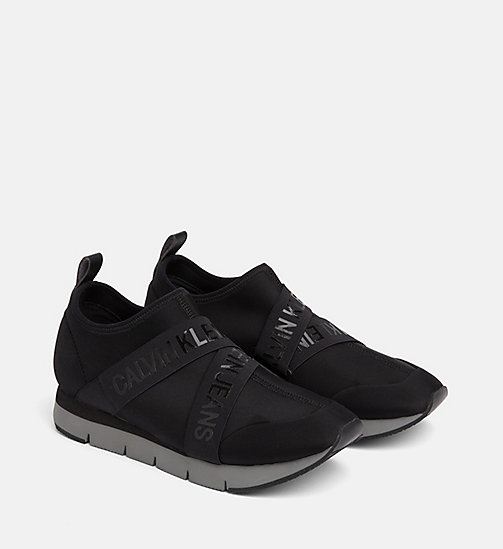 CALVIN KLEIN JEANS Neoprene Trainers - BLACK - CALVIN KLEIN JEANS FLAT SHOES - detail image 1