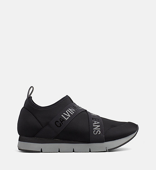 CALVIN KLEIN JEANS Neoprene Sneakers - BLACK - CALVIN KLEIN JEANS FLAT SHOES - main image