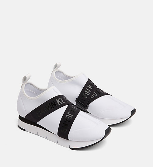 CALVIN KLEIN JEANS Sneaker in neoprene - WHITE - CALVIN KLEIN JEANS IN THE THICK OF IT FOR HER - dettaglio immagine 1