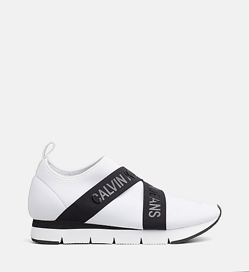 CALVIN KLEIN JEANS Sneaker in neoprene - WHITE - CALVIN KLEIN JEANS IN THE THICK OF IT FOR HER - immagine principale