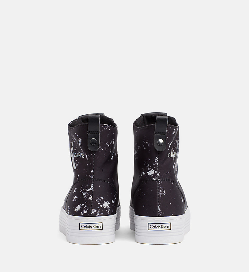 CALVIN KLEIN JEANS Splatter High-Top Sneakers - WHITE - CALVIN KLEIN JEANS WOMEN - detail image 2