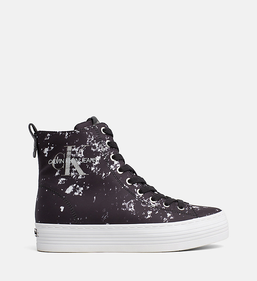 CALVIN KLEIN JEANS Splatter High-Top Sneakers - WHITE - CALVIN KLEIN JEANS WOMEN - main image