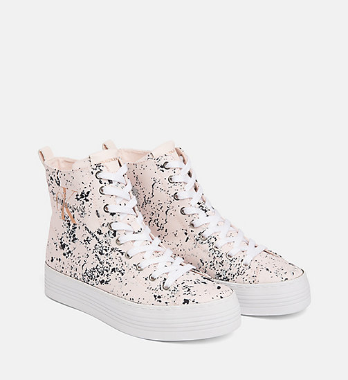 CALVIN KLEIN JEANS Splatter High-Top Sneakers - PINK - CALVIN KLEIN JEANS TRAINERS - detail image 1