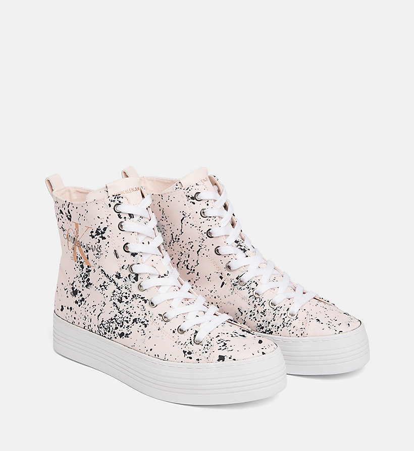 CALVIN KLEIN JEANS Splatter High-Top Sneakers - BLACK - CALVIN KLEIN JEANS WOMEN - detail image 1