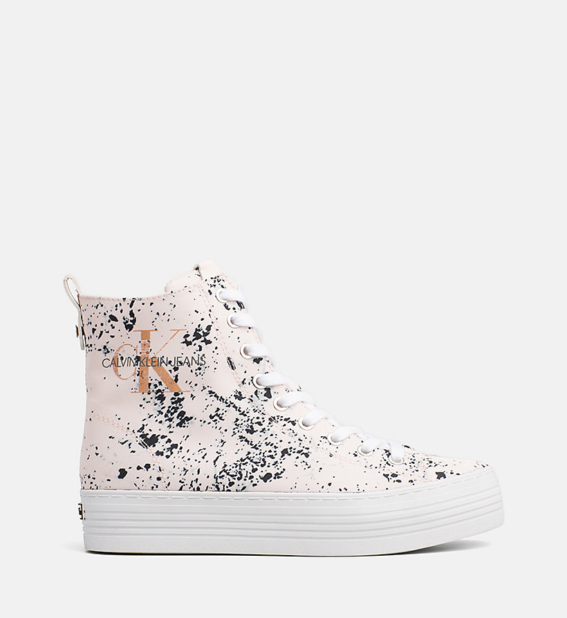 CALVIN KLEIN JEANS Splatter High-Top Sneakers - BLACK - CALVIN KLEIN JEANS WOMEN - main image