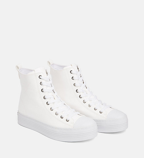 CALVIN KLEIN JEANS Lakleren high-top sneakers - WHITE - CALVIN KLEIN JEANS The New Off-Duty - detail image 1