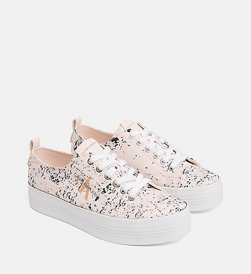 CALVIN KLEIN JEANS Splatter Sneakers - PINK - CALVIN KLEIN JEANS TRAINERS - detail image 1