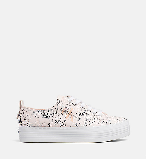 CALVIN KLEIN JEANS Splatter Sneakers - PINK - CALVIN KLEIN JEANS TRAINERS - main image