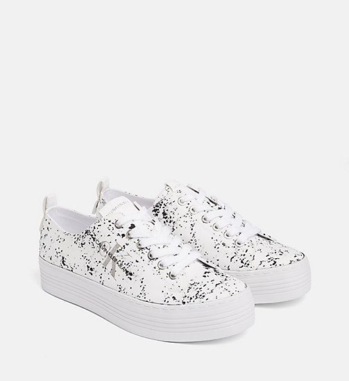 CALVIN KLEIN JEANS Splatter Sneakers - WHITE - CALVIN KLEIN JEANS TRAINERS - detail image 1