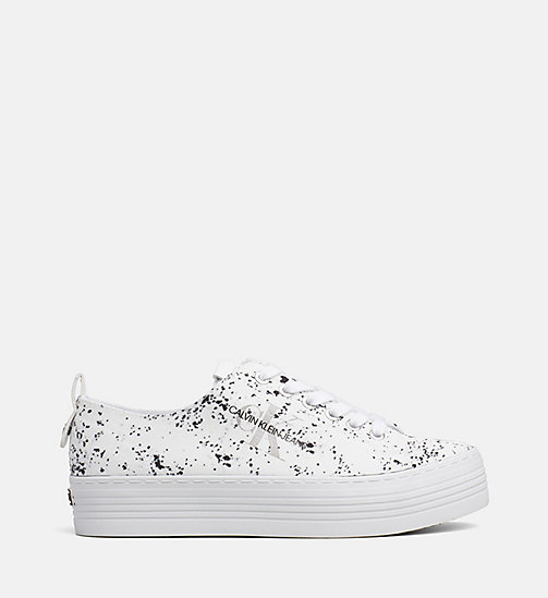 CALVIN KLEIN JEANS Splatter Sneakers - WHITE - CALVIN KLEIN JEANS TRAINERS - main image