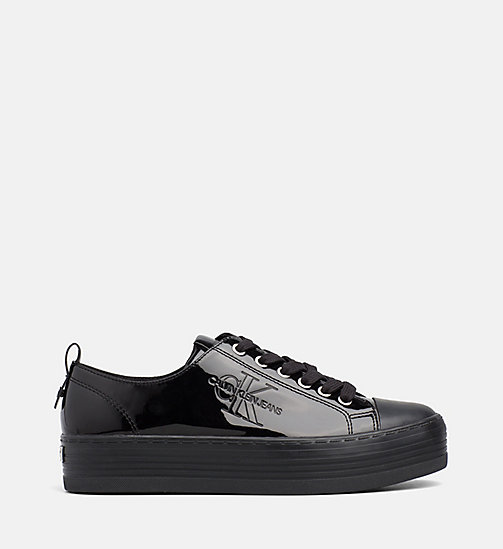 CALVIN KLEIN JEANS Patent Trainers - BLACK -  The New Off-Duty - main image