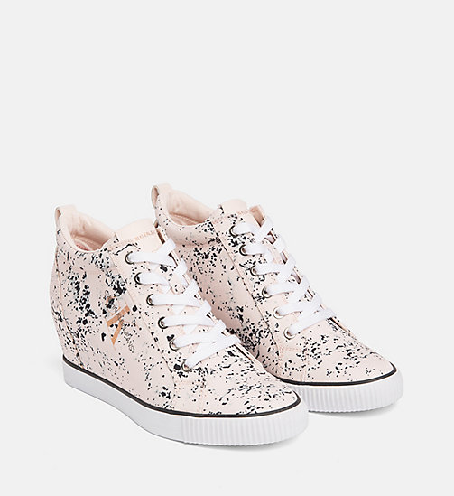 CALVIN KLEIN JEANS Splatter Wedge Sneakers - PINK - CALVIN KLEIN JEANS TRAINERS - detail image 1